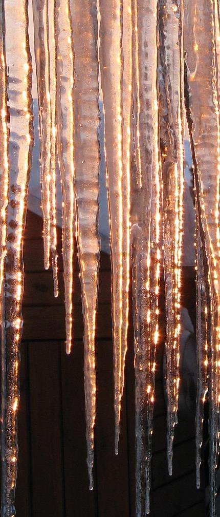 Eiszapfen an Wintersonne 2
